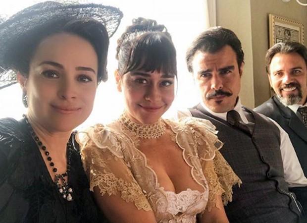 Gabriela Duarte, Alessandra Negrini, Joaquim Lopes e Marcelo Faria (Foto: Reprodução/Instagram)