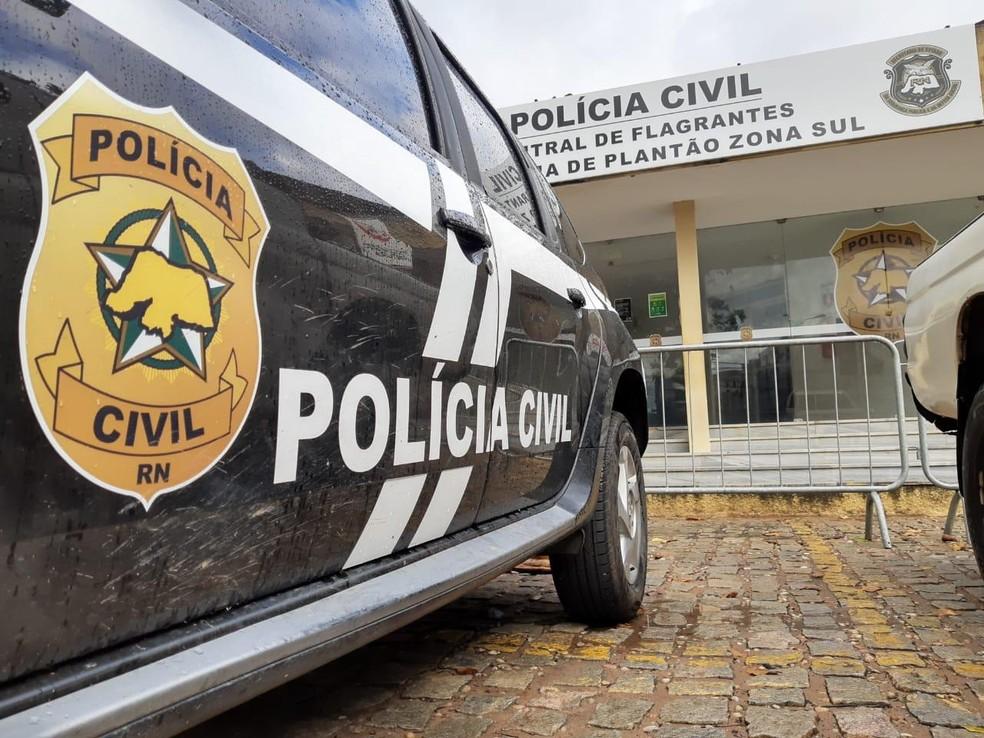 Polícia Civil do RN  — Foto: Sérgio Henrique Santos/Inter TV Cabugi