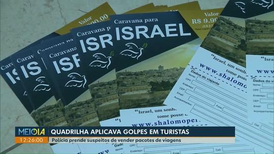 Polícia prende suspeitos de vender pacotes de viagens para destinos religiosos