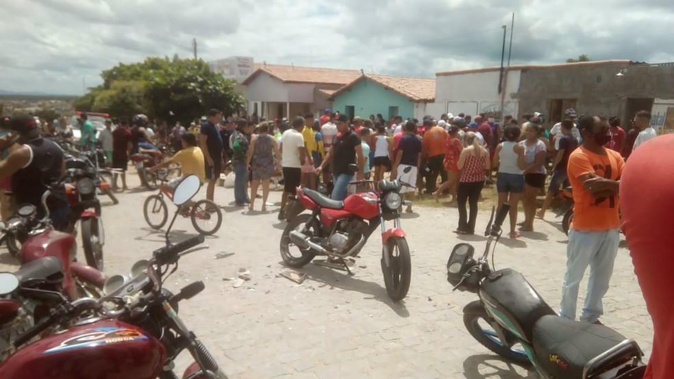 Acidente ocorreu na RN-088 entre Jardim do Seridó e Parelhas — Foto: Reprodução