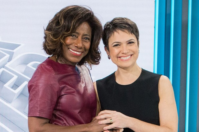 Gloria Maria e Sandra Annenberg (Foto: Raquel Cunha/TV Globo)