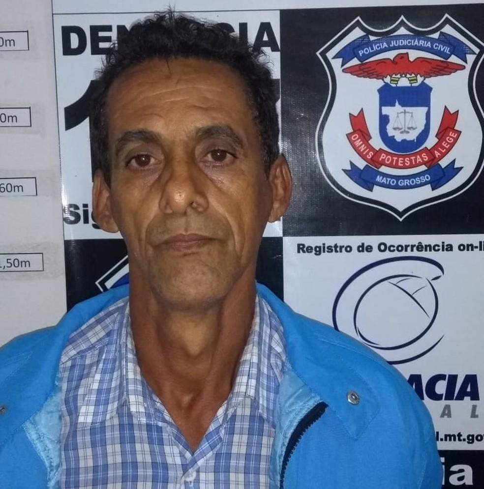 Suspeito deve ser levado para cadeia pública de Rondonópolis (Foto: Polícia Civil-MT/ Divulgação)