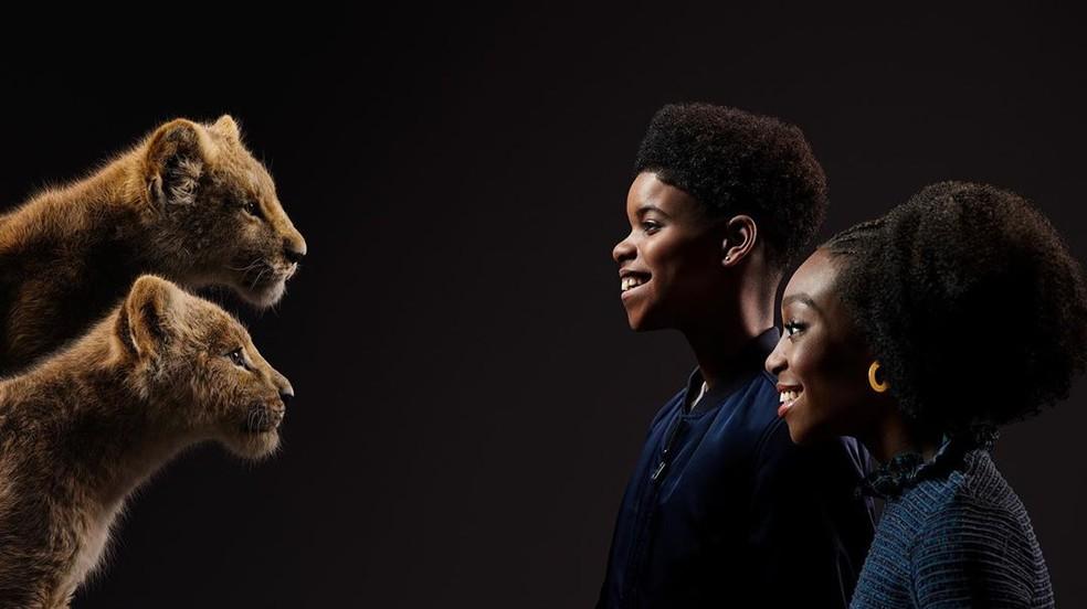 JD McCrary (Simba jovem) e Shahadi Wright Joseph (Nala jovem) — Foto: Divulgação/Disney