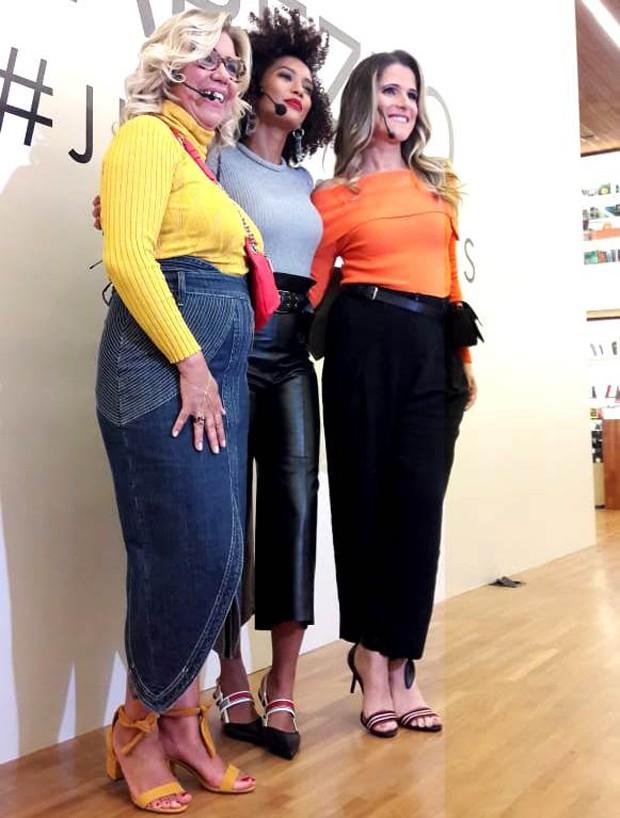 Astrid Fontenelle, Taís Araújo e Ingrid Guimarães (Foto: Soninha Vieira/Ed.Globo)
