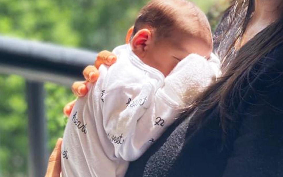 Primeiro bebê da Bahia com anticorpos contra Covid-19 após mãe ser vacinada na gestação — Foto: Arquivo Pessoal