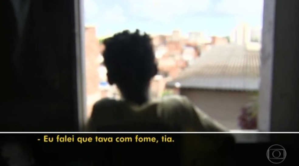 Garoto contou como abordagem ocorreu (Foto: Reprodução/ TV Globo)
