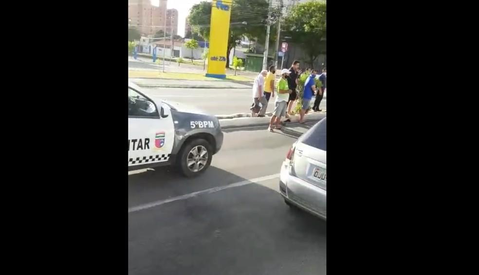 Caso aconteceu na manhã deste sábado (16) na avenida Salgado Filho em Natal — Foto: Reprodução