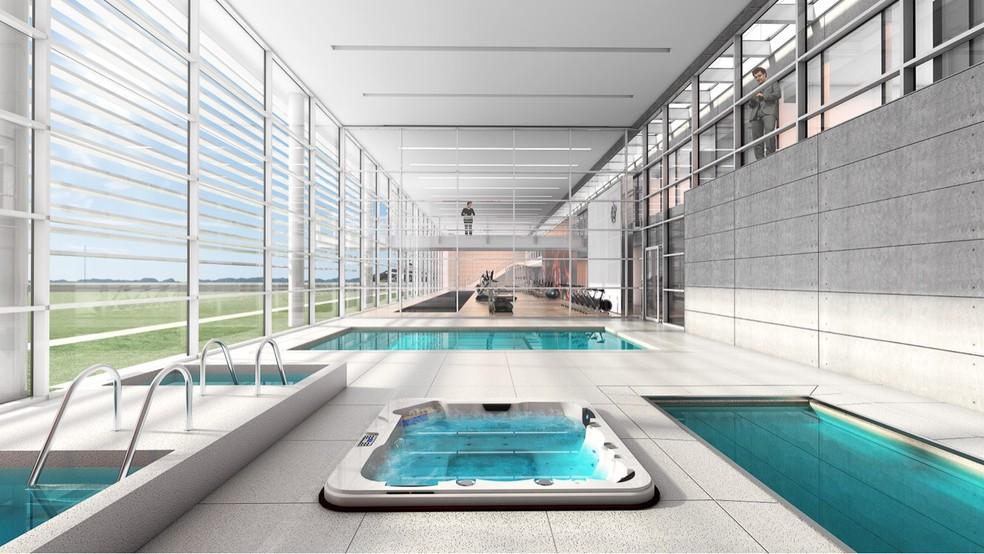 Parque aquático terá piscina e jacuzzis (Foto: Divulgação Flamengo)