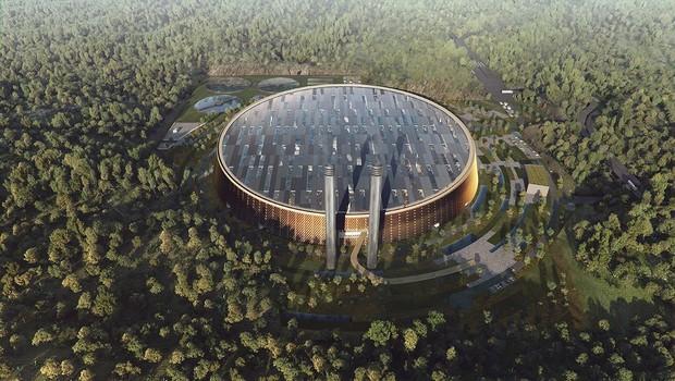 Projeto da usina energética, que tem previsão de conclusão das obras em 2020 (Foto: SHL Architects)