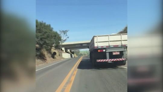 VÍDEO: motorista de caminhão tem mal súbito e se envolve em acidente na SP-191