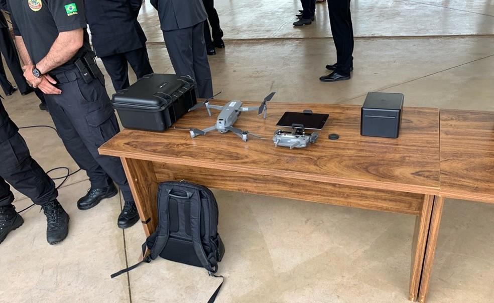 Drone que será usado pela PF durante as eleições municipais deste ano — Foto: Gabriel Palma/TV Globo