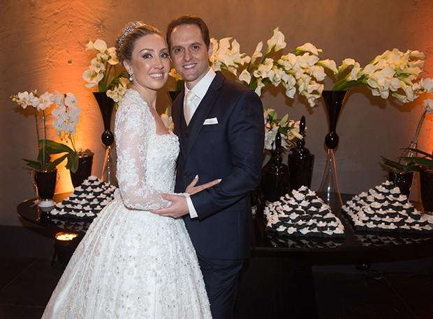 Fernanda Nichelle e Carlos Eduardo Tagliari (Foto: Francisco Cepeda/AgNews)