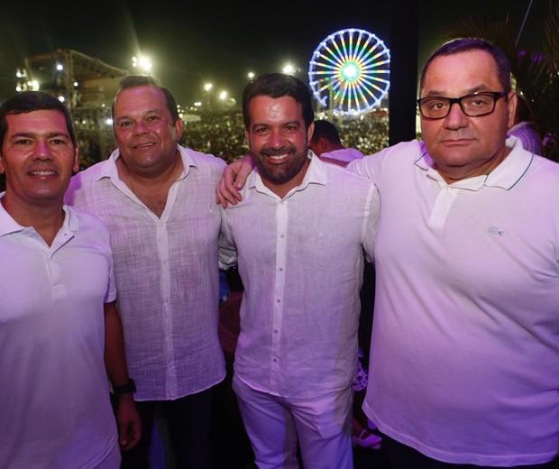 Claudio Tinoco, Geraldo Junior, Paulo Magalhães e Fernando Barros (Foto: Ed.Globo/Ricardo Cardoso)