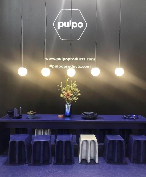 O azul esteve presente nos lançamentos de diversas marcas, como a Pulpo Products (Foto: Thaís Lauton/Editora Globo)