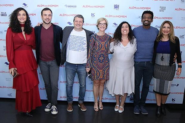 Elenco do filme Além do Homem (Foto: AgNews)