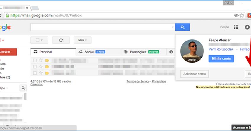 4173bd877 Como fazer login e entrar com outra conta no Gmail