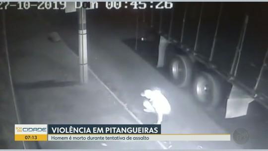 Homem prensa ladrão contra caminhão antes de ser baleado e morto em Pitangueiras; veja vídeo