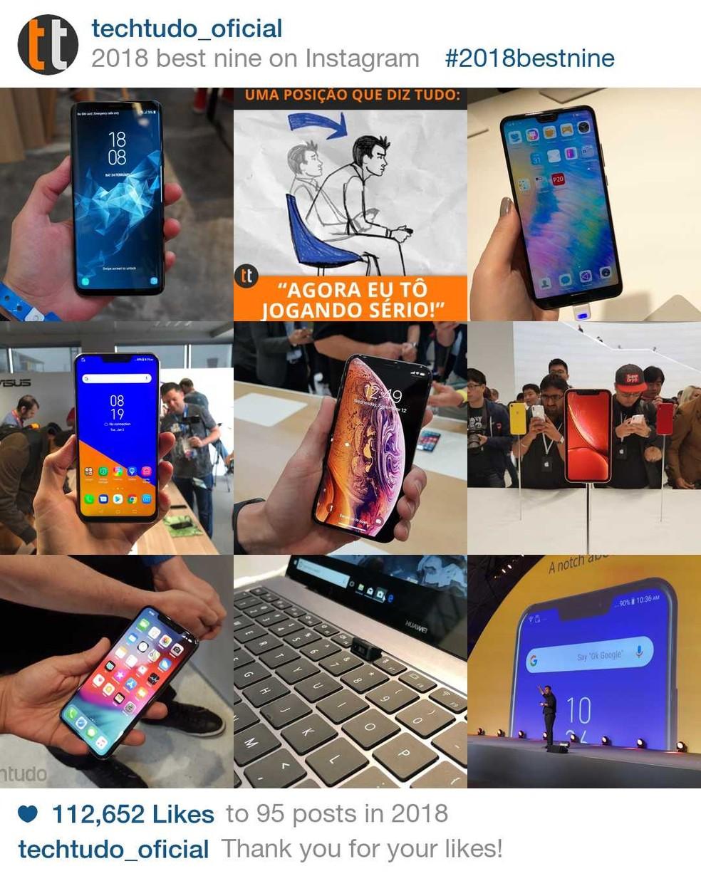 09f1a8609d4cd ... Aprenda a criar o seu Best9 de 2018 no Instagram — Foto: Reprodução /Helito