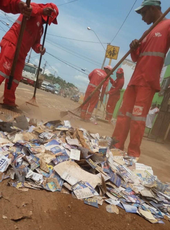Equipes devem concluir trabalho de limpeza em sete a dez dias  — Foto: Divulgação/Semsur