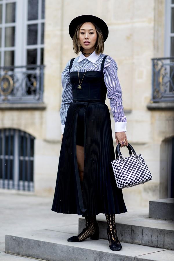 Chapéu no street style (Foto: Imaxtree)
