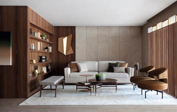 Integração do living ao terraço traz luz a apartamento de 300 m² em SP