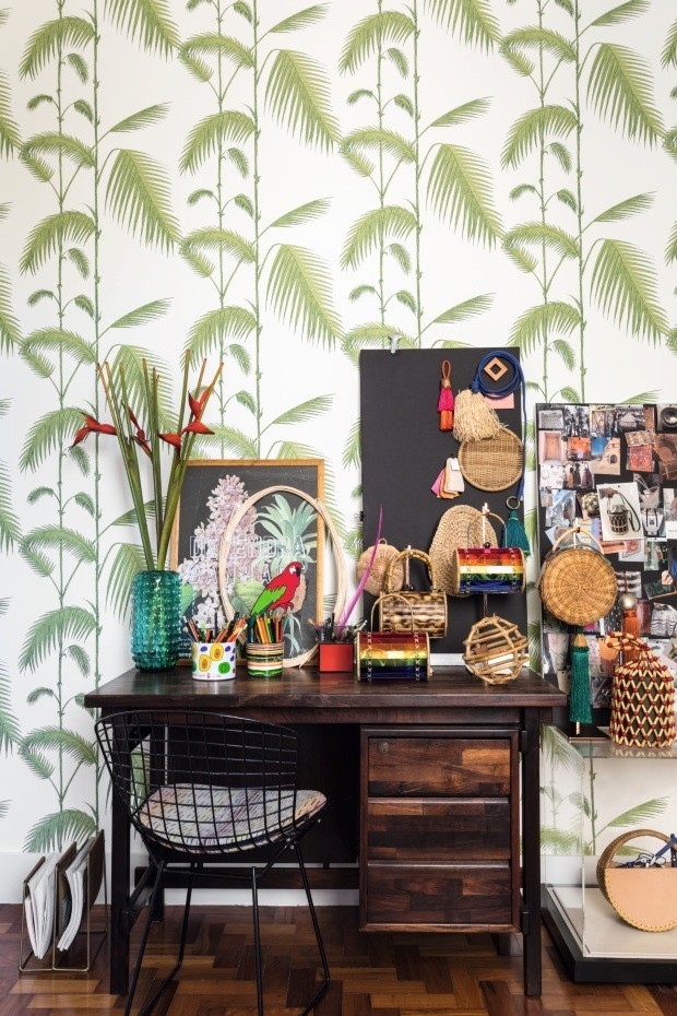Décor do dia: home office em clima tropical (Foto: Fran Parente)