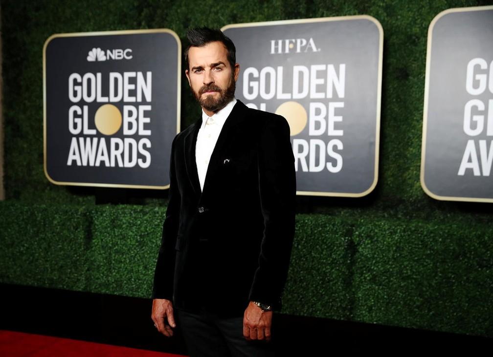 Justin Theroux no Globo de Ouro 2021 — Foto:  Cindy Ord/NBC via Reuters