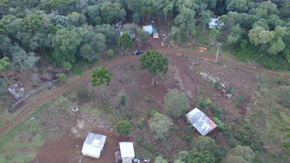 Operação da PF apura invasões em área de preservação ambiental em Guarapuava  — Foto: Divulgação/PF