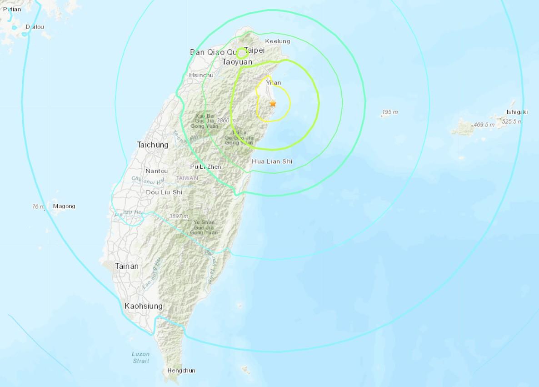 Terremoto de magnitude 6,5 atinge Taiwan