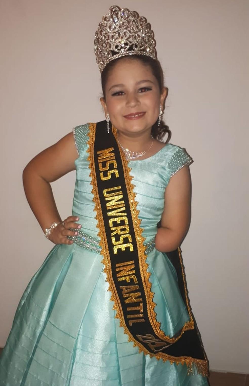 Milena Struck Miss Universo Infantil 2019 — Foto: Andressa Struck