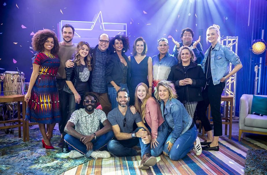 Time do 'PopStar' se reúne pela primeira vez nos Estúdios Globo