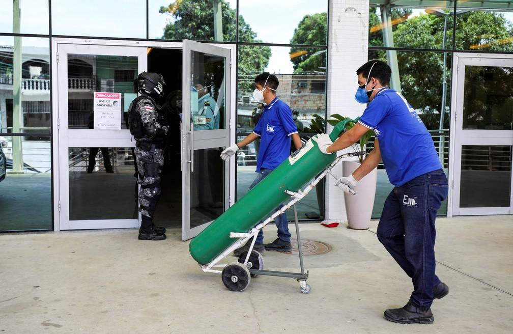 Com hospitais cheios, Manaus enfrenta uma crise no abastecimento de oxigênio  Foto: Bruno Kelly/Reuters