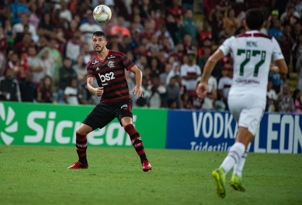 Gustavo Henrique é o único zagueiro que atuou nos seis jogos do time principal do Flamengo no ano — Foto: Alexandre Vidal / Flamengo