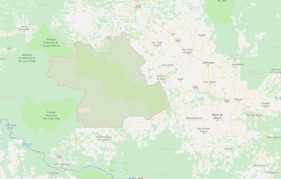 Área de reserva equivale a 12 vezes o tamanho de São Paulo — Foto: Google Maps/Reprodução