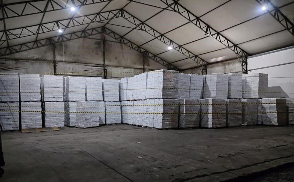 Carga foi apreendida pela Vigilância Sanitária de Santos, após solicitação do Ministério Público do Trabalho — Foto: Divulgação/Prefeitura de Santos