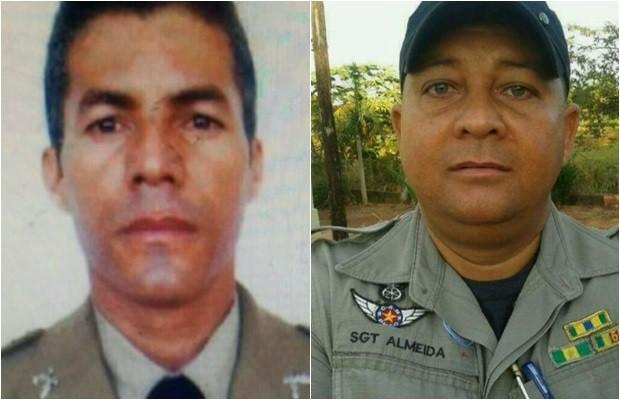 Sargento Freitas matou o sargento Almeida e depois morreu em confronto, em Goiás (Foto: Reprodução/TV Anhanguera)