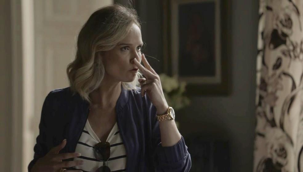 Fabiana pede para Lindomar ficar de olho em Clara Foto TV Globo