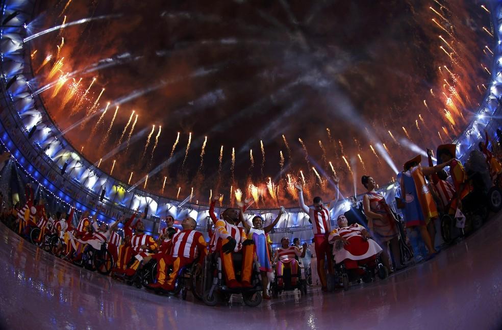 Cerimônia de abertura da Paralimpíada Rio 2016 — Foto: Reuters