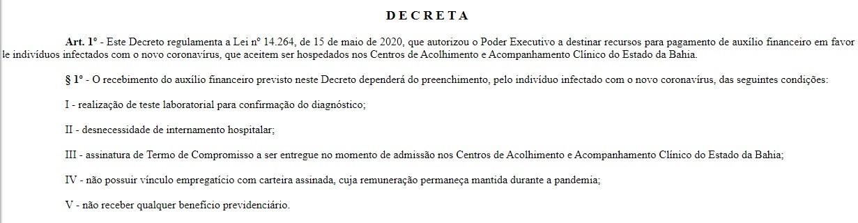 Decreto regulamenta auxílio de R$ 500 a pacientes com Covid-19 que aceitem ficar em centros de acolhimento; entenda