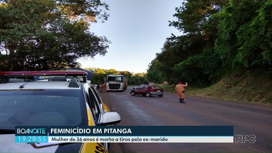 Mulher de 36 anos é morta a tiros pelo ex-marido em Pitanga