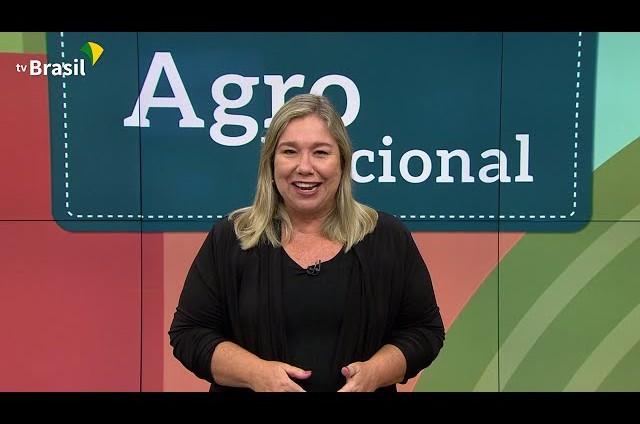 Katy Navarro apresentava o 'Agro nacional' (Foto: Reprodução)