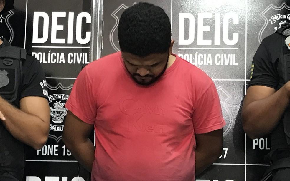 Motorista de aplicativo Silimar Santos do Lago é preso suspeito de agredir passageira em Abadia de Goiás — Foto: Vitor Santana/ G1