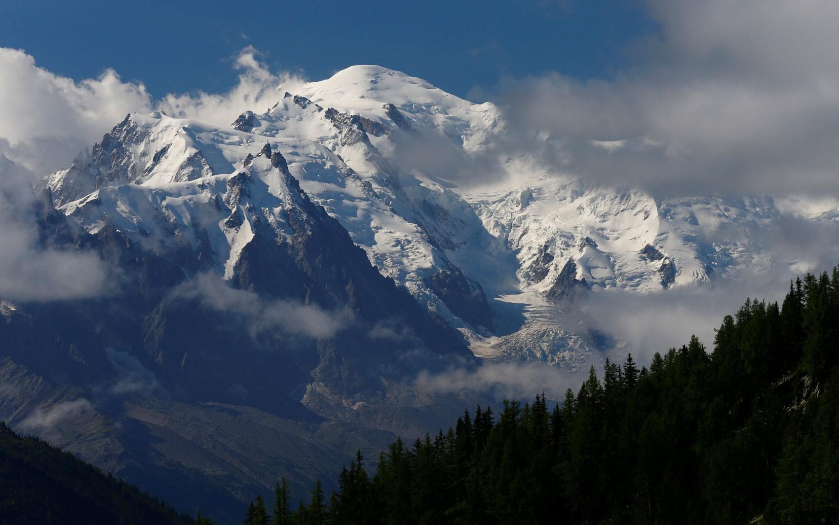 Mont Blanc, montanha mais alta da Europa Ocidental, perdeu 1cm em dois anos