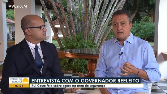 Entrevista: governador reeleito, Rui Costa fala sobre os projetos na área de segurança