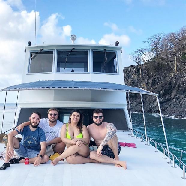 Elvis Moreira, Leo Fuchs, Preta Gil e Rodrigo Godoy (Foto: Reprodução/Instagram)