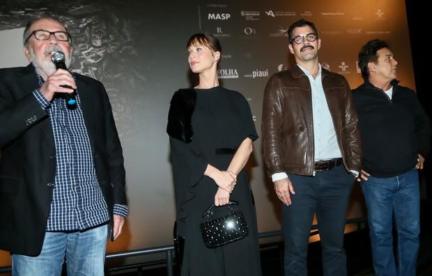 Cacá Diegues, Mariana Ximenes, Juliano Cazarré e Marcos Frota (Foto: Manuela Scarpa/Brazil News)