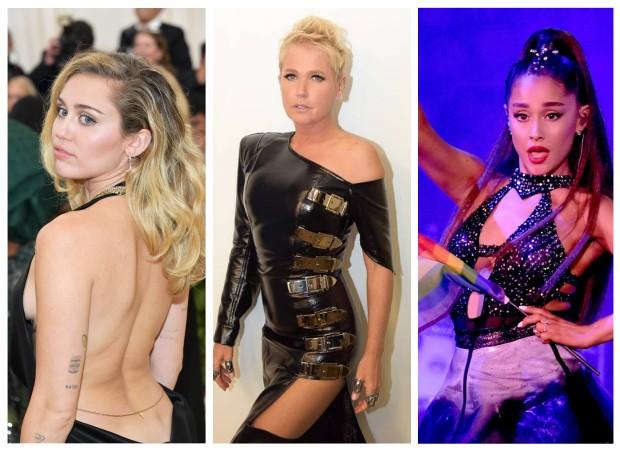 Miley Cyrus, Xuxa e Ariana Grande são veganas (Foto: Getty Images/Instagram/Reprodução)