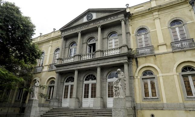 O Palácio Universitário da UFRJ, no campus da Praia Vermelha