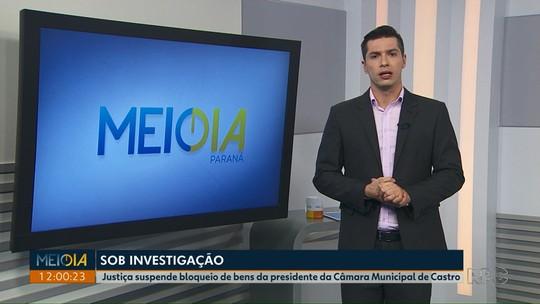 Justiça suspende bloqueio de bens da presidente da Câmara Municipal de Castro