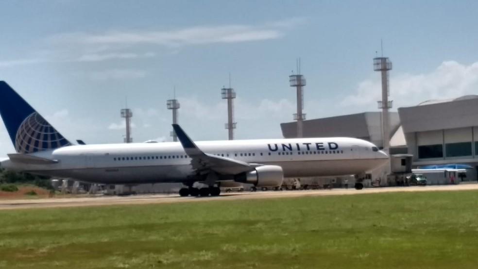 Avião fez pouso não programado em Palmas — Foto: Divulgação